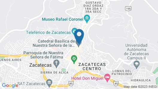 Hotel Emporio Zacatecas Map