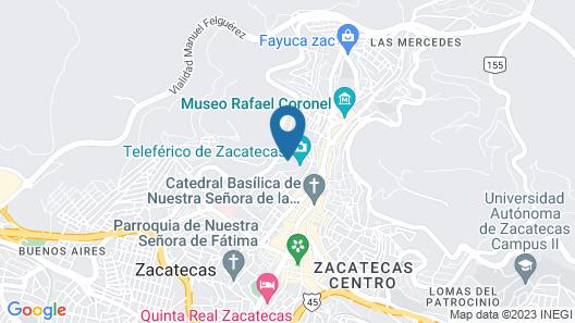 Hotel Baruk Teleferico y Mina Map
