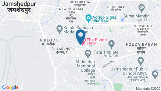 Hotel The Bizton Map