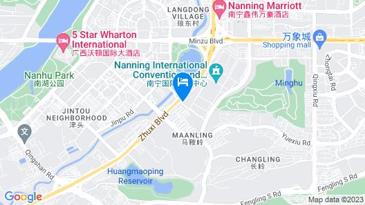 Howard Johnson Caexpo Plaza Nanning Map