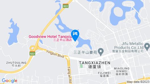Goodview Hotel Tangxia Dongguan Map