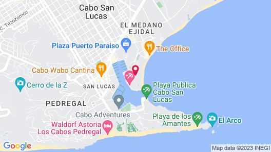 Hacienda Beach Club & Residences Map