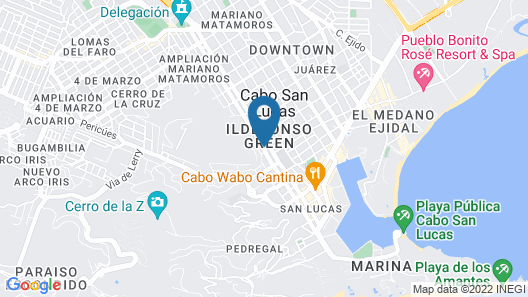 Cabo Vista Hotel - Adults only Map