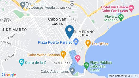 Cabo Inn Hotel Map