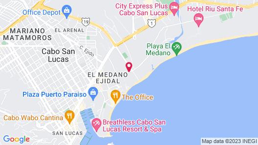 Club Cascadas de Baja Map