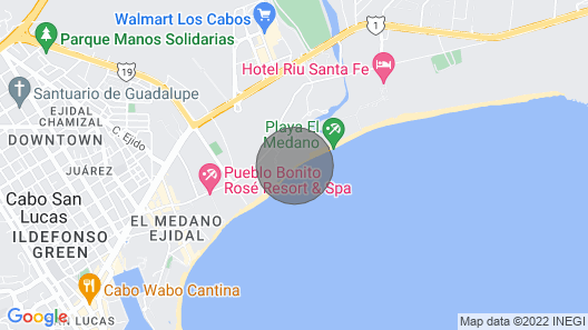 Beachfront 4th Floor with Stunning Views to Lands End, Medano Beach and Cabo San Lucas Bay Map