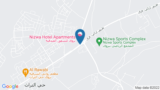 Nizwa Hotel Apartments Map
