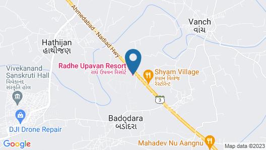 Radhe Upavan Resort Map