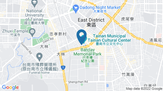 Evergreen Plaza Hotel Tainan Map