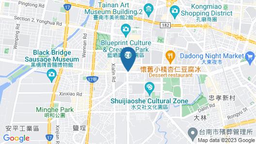 HOTEL COZZI Ximen Tainan Map