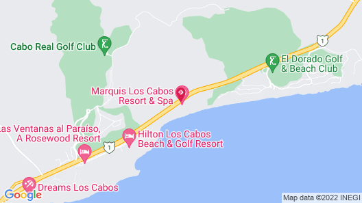 Marquis Los Cabos, An All Inclusive, Adults Only & No Timeshare Resort Map