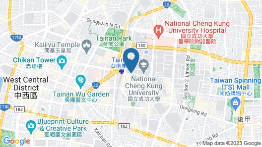 Shangri-La's Far Eastern Plaza Hotel, Tainan Map