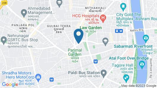 Radisson Blu Hotel Ahmedabad Map