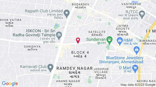 Courtyard by Marriott Ahmedabad Map
