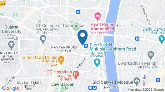 Hotel Cosmopolitan Ahmedabad Map