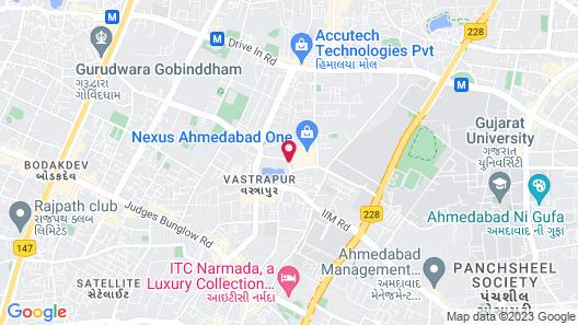 Hyatt Ahmedabad Map