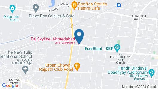 Taj Skyline Ahmedabad Map