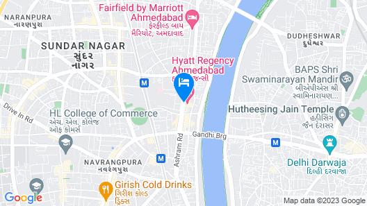 Hyatt Regency Ahmedabad Map
