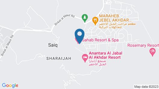 Sama Hotel Al Jabal Akhdhar Map