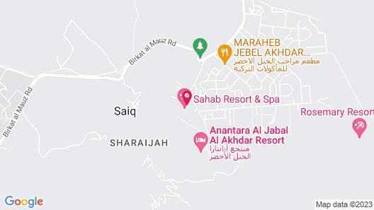 Sahab Resort and Spa Map