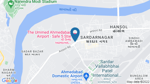 The Ummed Ahmedabad Airport Map