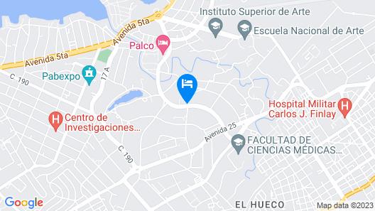 Villa Tropicana Map