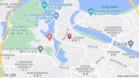 Jinjiang Inn Style Huizhou Xihu Park Pedestrian Street Map