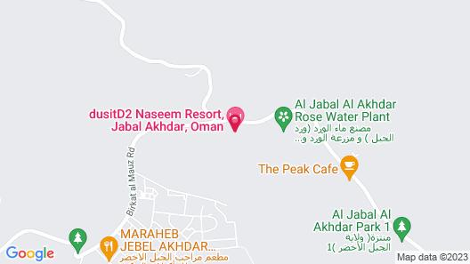 dusitD2 Naseem Resort, Jabal Akhdar Map