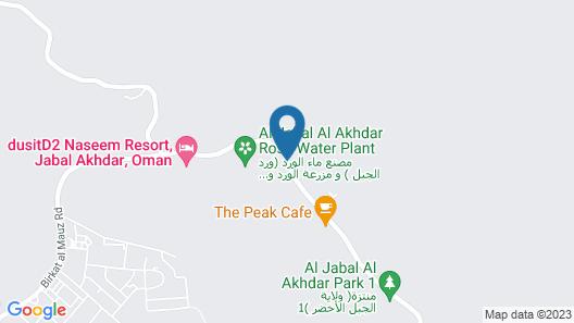 Jabal Akhdar Hotel Map