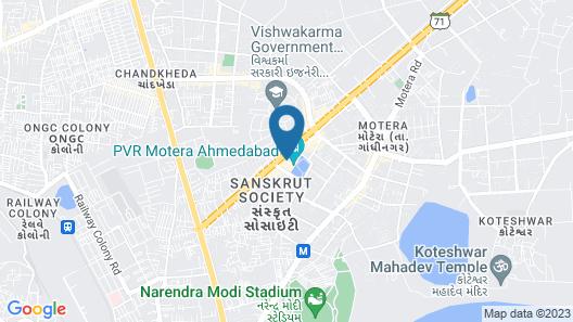 Mango Hotels Tune, Ahmedabad Map