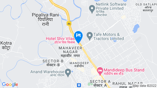 Hotel Shiv Villas Map
