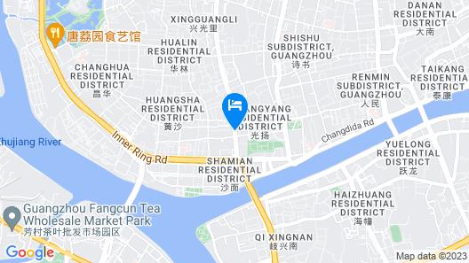 Xin Hua Hotel Guangzhou Map
