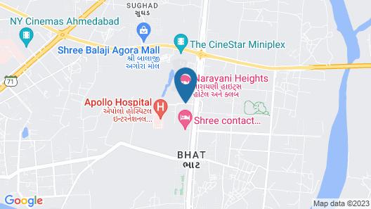 Narayani Heights Hotel and Resort Map