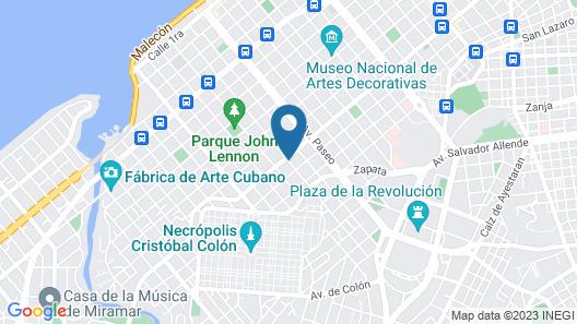 Hostal Colonial Casa de Luca Map