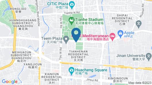 Guangzhou Marriott Hotel Tianhe Map