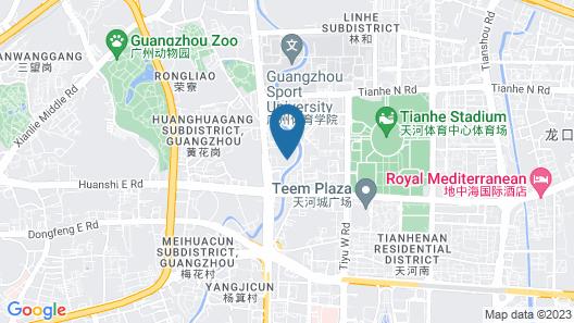 Sheraton Guangzhou Hotel Map