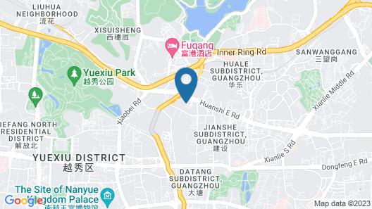 The Garden Hotel Guangzhou Map