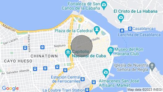 Penthouse Vista a Obispo - Havana Rentals Map
