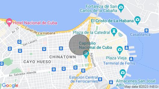 Aby's Casa in Cuba Map