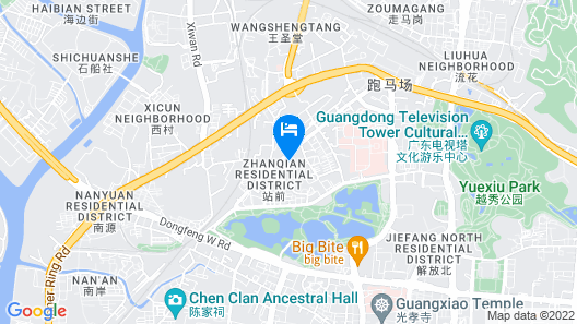 Guangzhou Planet Hotel Map