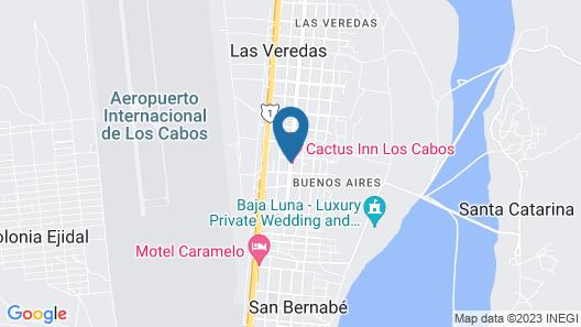Cactus Inn Los Cabos Map