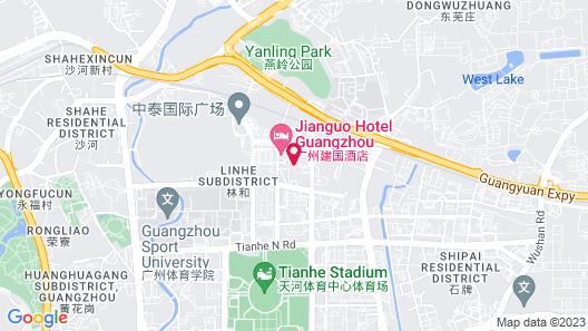 Jianguo Hotel Guangzhou Map