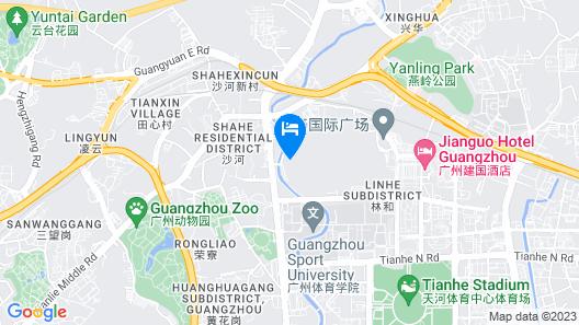 Hilton Guangzhou Tianhe Map