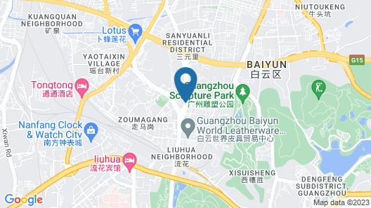 Yile Hotel - Guangzhou Map