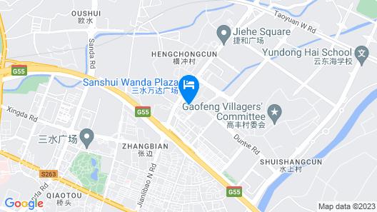 Kyriad Marvelous Hotel(Foshan Sanshui Wanda Plaza Branch) Map