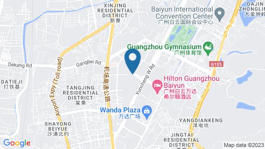 Hilton Guangzhou Baiyun Map