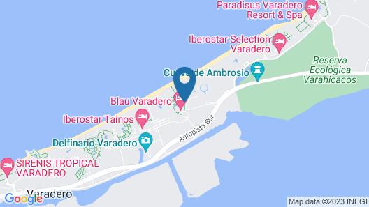 Blau Varadero - Solo Adultos Map