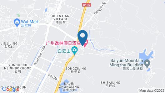 Easeland Hotel  Guangzhou Map