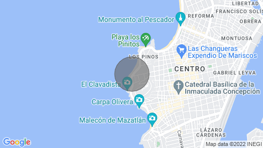 Mazatlan Ocean View 3 Bedroom Condo, Bikes, Kayaks, and Boogie Boards Availab Map