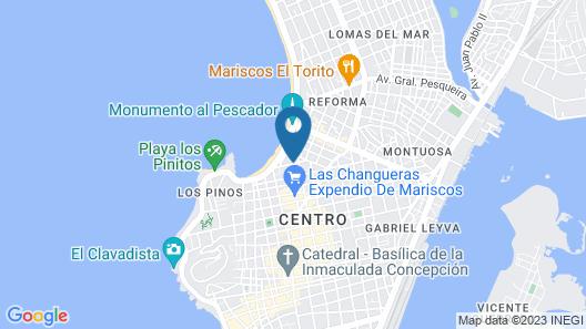 Hotel Mexico Mazatlan In Downtown Map